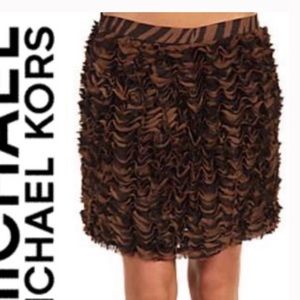 Michael by Michael Kors animal print ruffle skirt